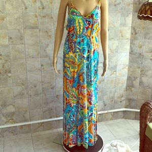 Ralph Lauren Multicolored Paisley Maxi Dress